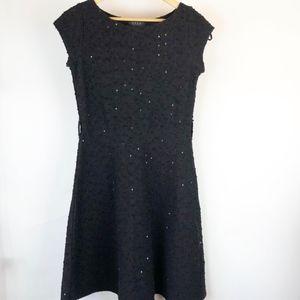 Koan Coin Women's Knit Dress Size M Black slip on